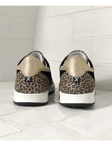 BASKETS TRICO WHITE NUDE GREEN